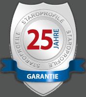 25 Jahre Garantie - StaroProfile