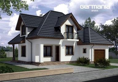 Metalldachpfanne Germania - Haus