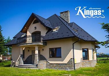 Metalldachpfanne Kingas - Haus