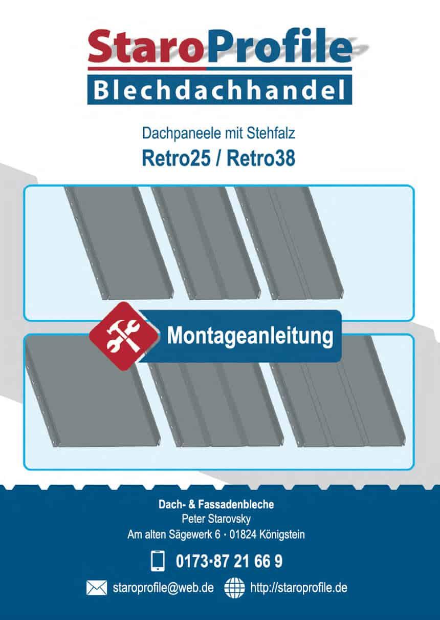 Montageanleitung Dachpfannen - Retro Paneele