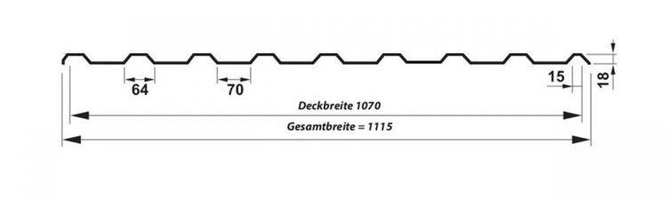 Trapezblech T-18 SP - Technische Daten