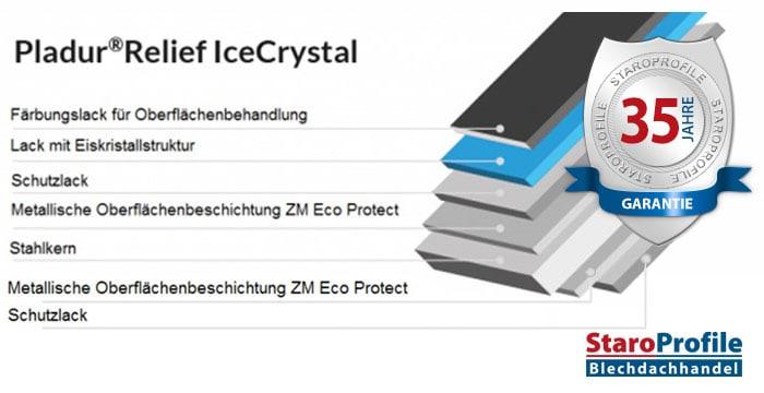 Pladur Relief IceCrystal – Beschichtung 35 Jahre