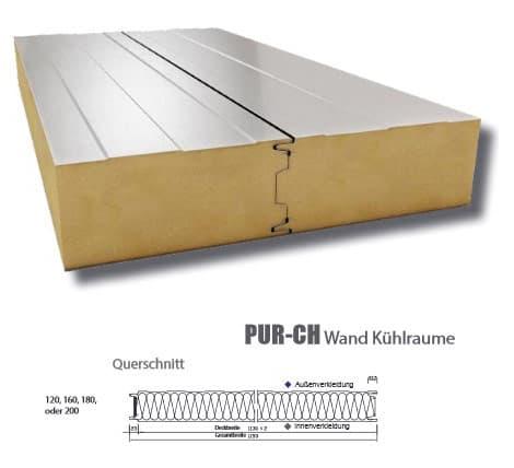Sandwichplatte Kühl PUR-CH - Technische Daten