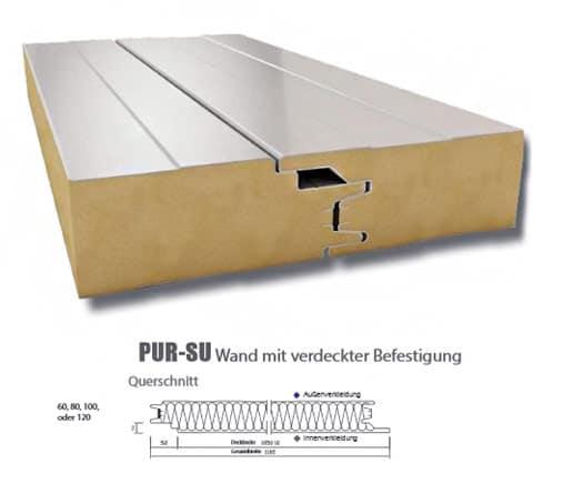 Sandwichplatte PUR-SU - Technische Daten