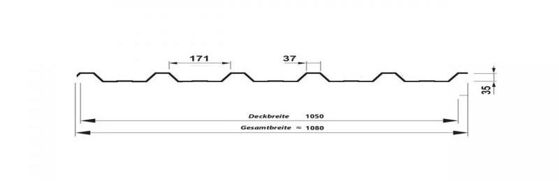 Trapezblech T-35 SP – Technische Daten
