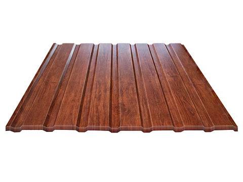 Trapezblech T-8 Fassade - Holzoptik