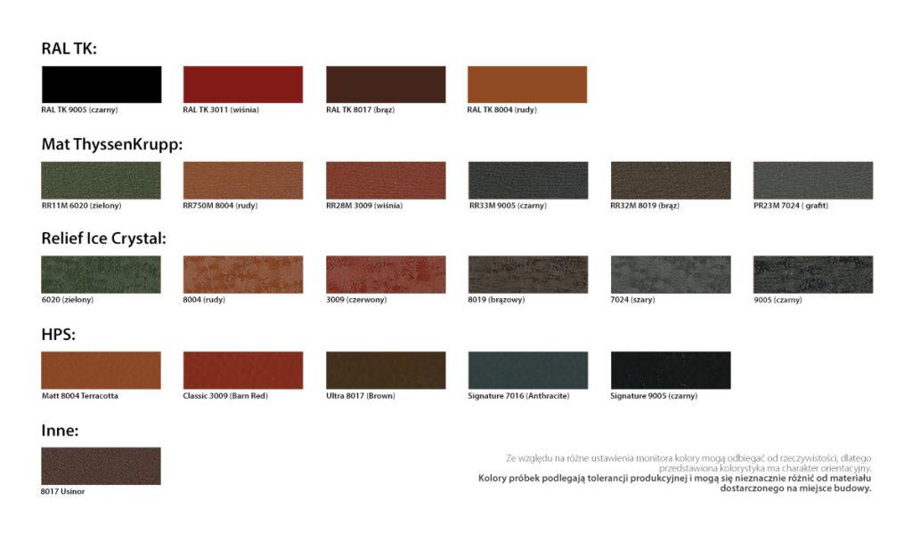 Metallzaun - Zaunlamelle Farben