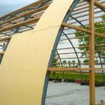 Rundbogenhalle Montage Bausatz module Bauweise