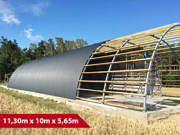Rundbogenhalle SP-11 - (BxLxH) 11,30m x 10m x 5,65m