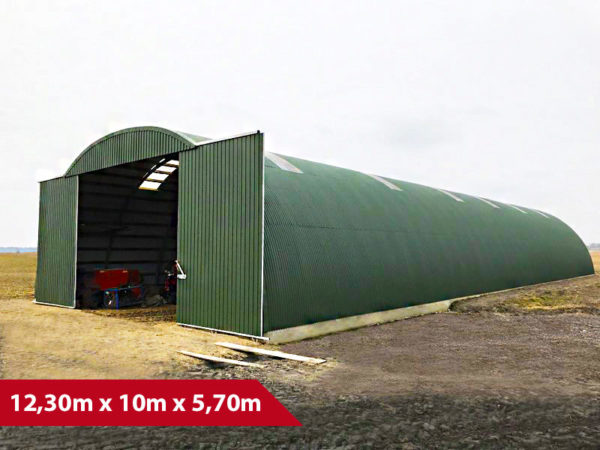 Rundbogenhalle SP-12 - (BxLxH) 12,30m x 10m x 5,70m