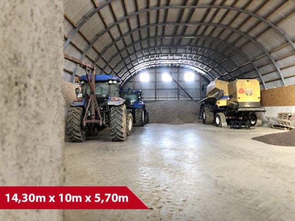 Rundbogenhalle SP-14 - (BxLxH) 14,30m x 10m x 5,70m