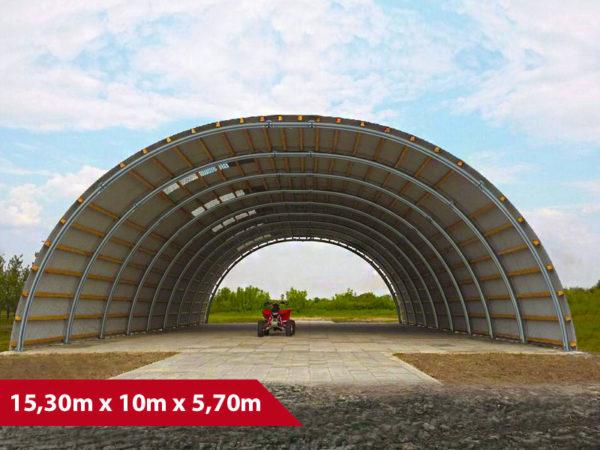 Rundbogenhalle SP-15 - (BxLxH) 15,30m x 10m x 5,70m