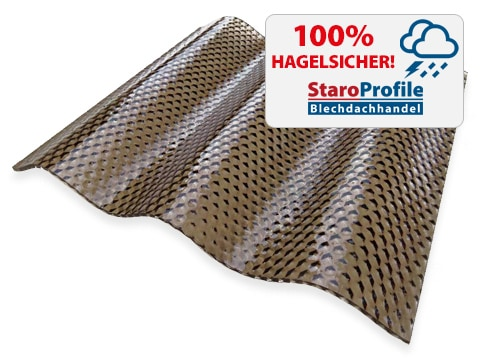 Lichtplatte Malon CS Diamond Bronze - Hagelsicher