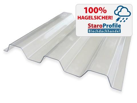 Lichtplatte Renolit Ondex HR Farblos - Hagelsicher