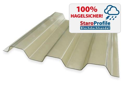 Lichtplatte Renolit Ondex HR Rauchfarben - Hagelsicher