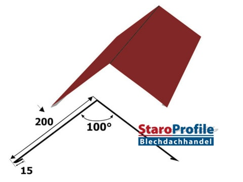 Einfacher First - Flachfirst 200