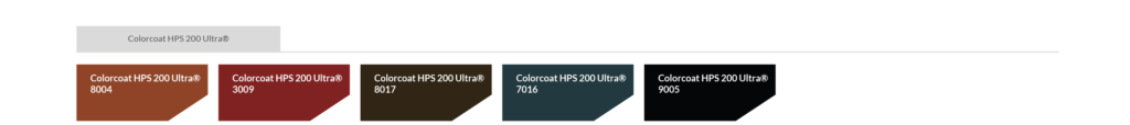 Farbtabelle Colorcoat HPS 200 Ultra