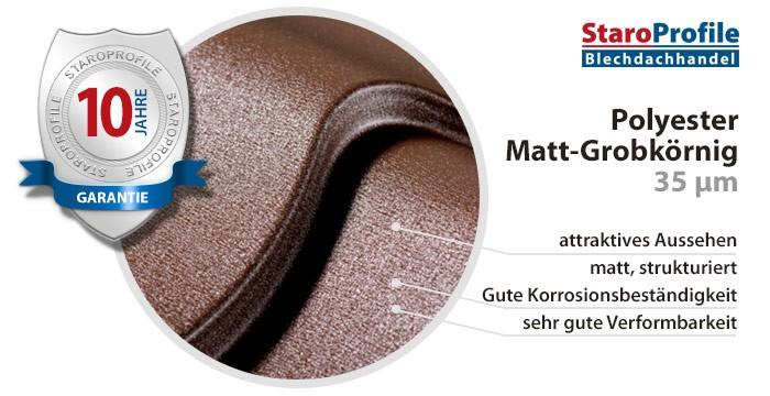 Matt Grobkörnig - Beschichtung 10 Jahre