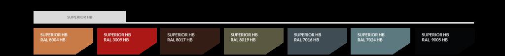 Farbtabelle SUPERIOR HB