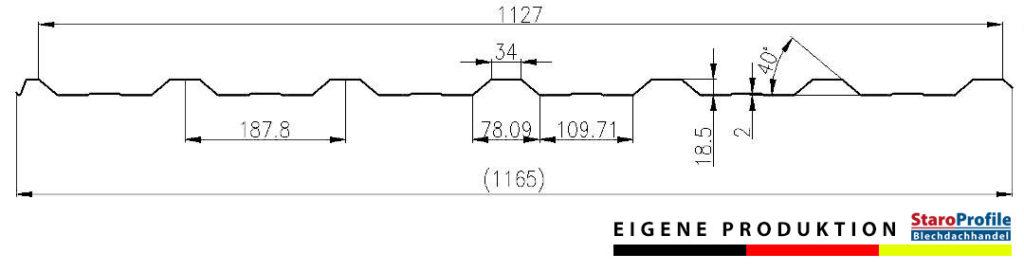 Trapezblech T-18PK – Eigene Produktion