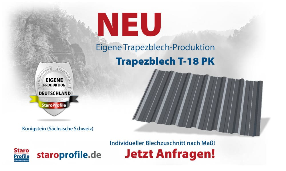 Trapezblech T-18PK - Eigene Produktion